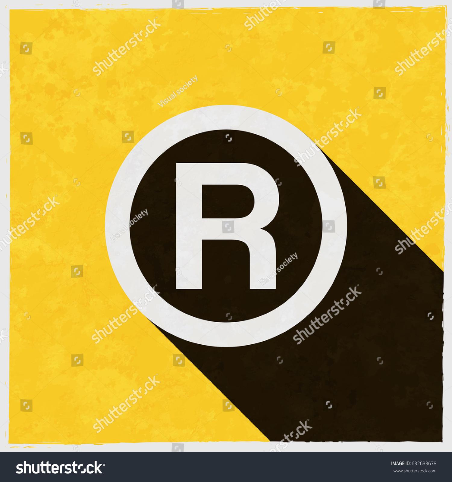 R Registered Trademark Symbol On Retro Stock Vector Royalty Free