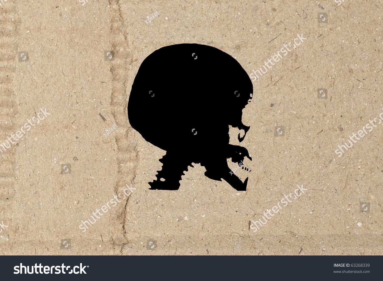 Skull Cardboard Stock Illustration Royalty Free Stock Illustration