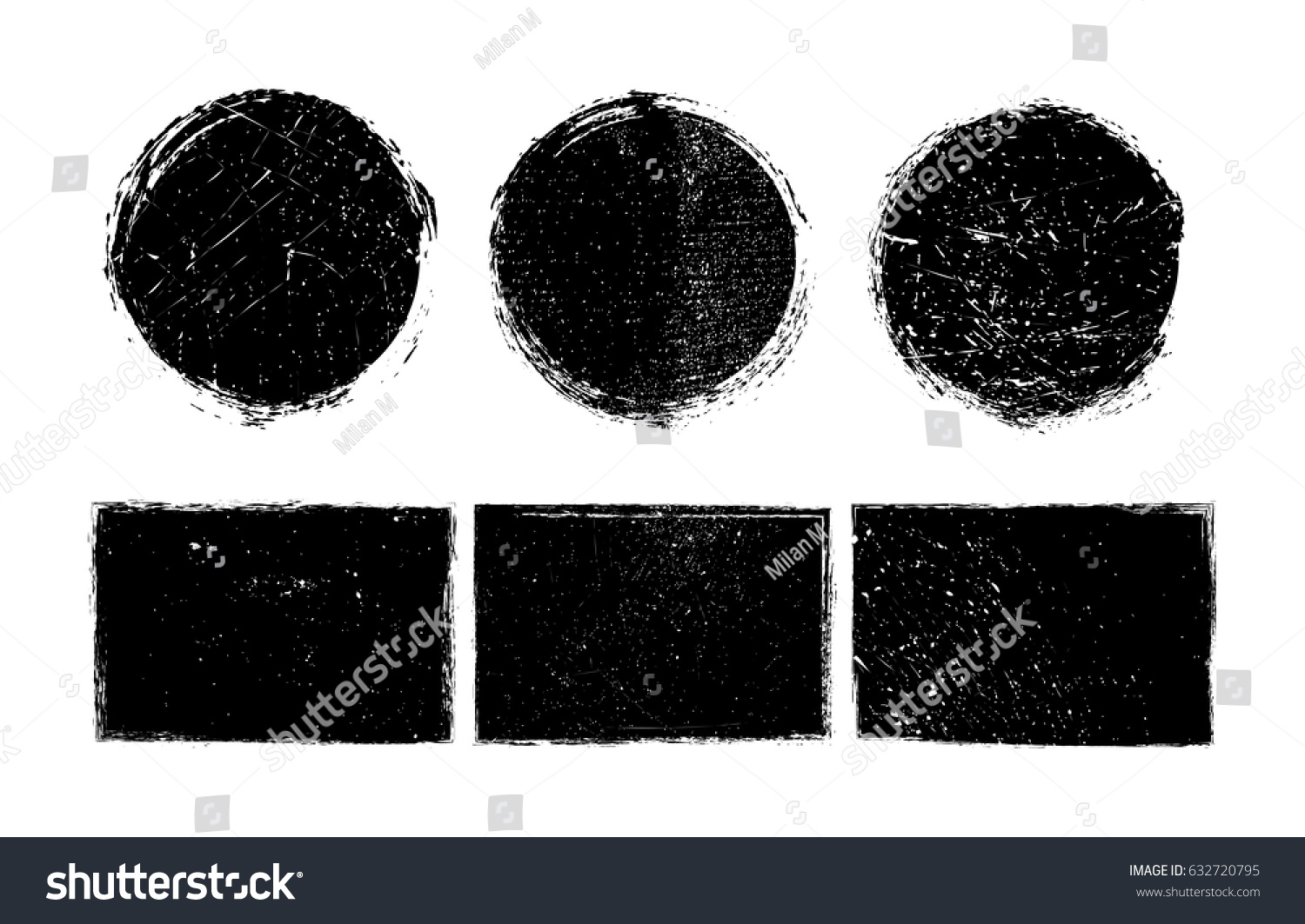 Vector grunge shapes.Grunge design elements. #632720795