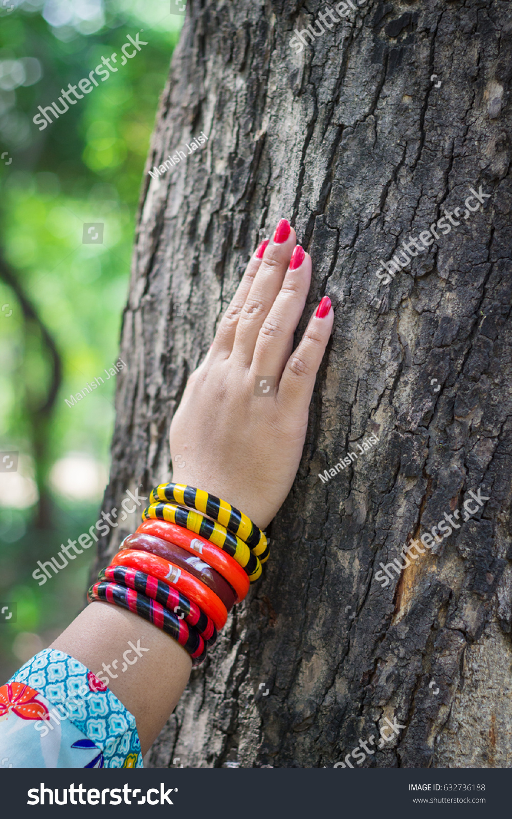 Woman Shows Her Beautiful Hand Some Stock Photo 632736188 ...