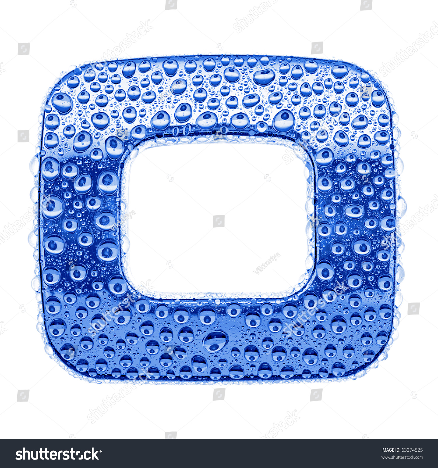 Blue ice alphabet symbol letter o stock illustration 63274525 blue ice alphabet symbol letter o water splashes and drops on glossy metal biocorpaavc
