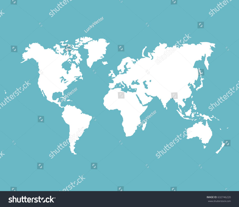 Monochrome world map vector template website vector de monochrome world map vector template website vector de stock632746220 shutterstock gumiabroncs Choice Image