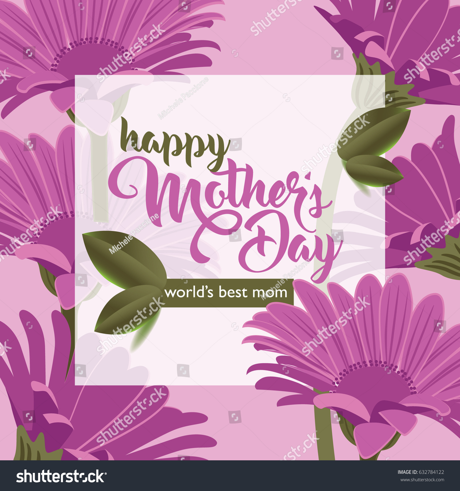 Happy mothers day greeting card design stock vector 632784122 happy mothers day greeting card design with pink daisies and copy space eps 10 vector kristyandbryce Image collections