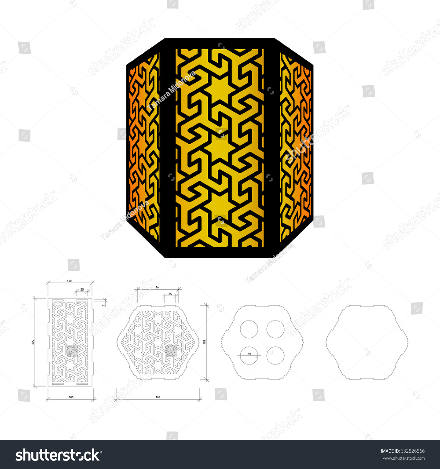 Cut out template lamp candle holder stock vector 632826566 cut out template for lamp candle holder lantern or chandelier plywood 3 mm arubaitofo Gallery