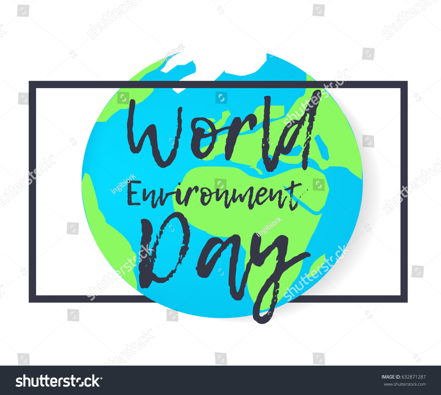 Poster design on save earth - Vector Earth In Flat Design Save Date Poster Earth Day And World Environment Day