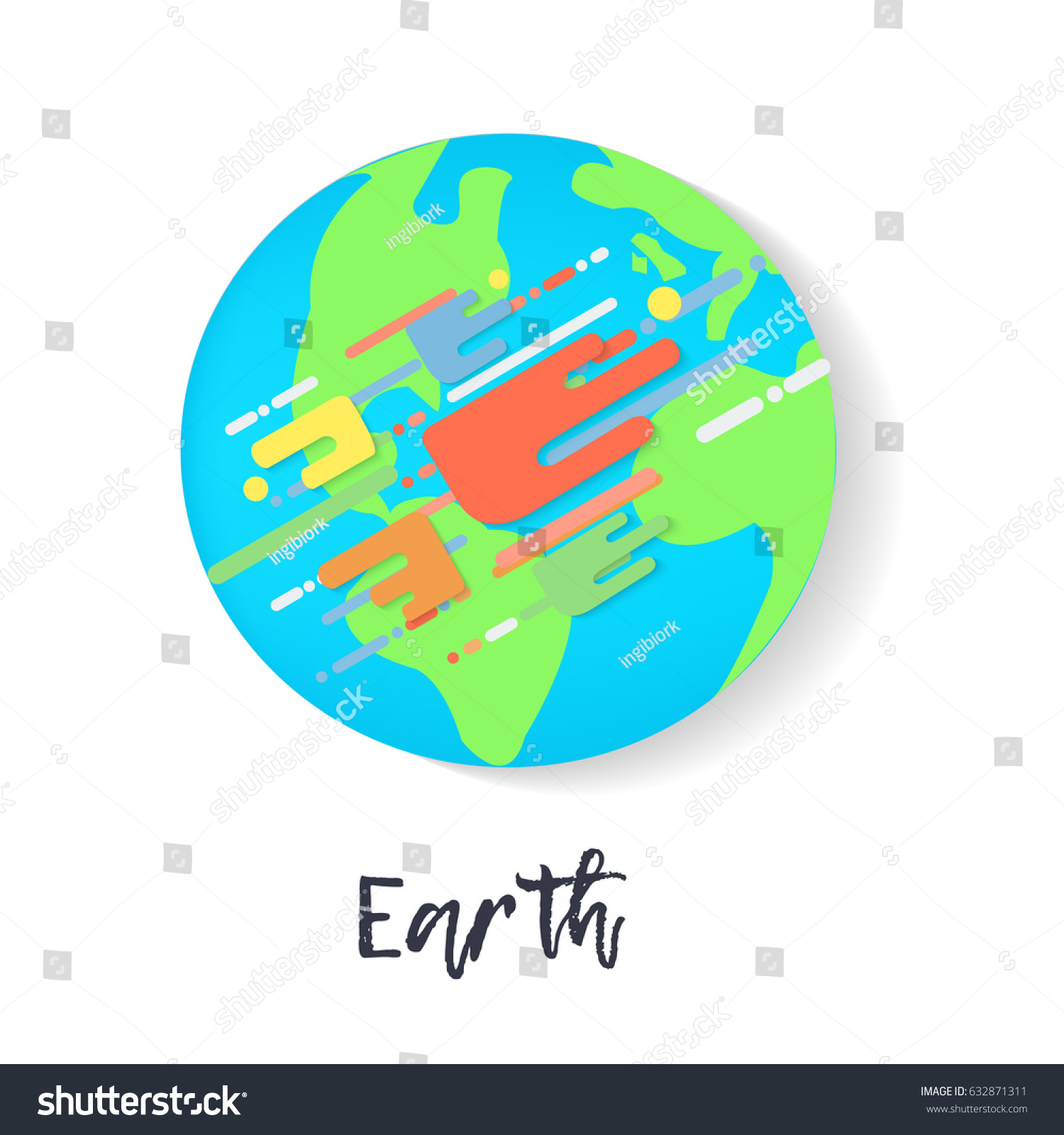 Poster design environment day - Vector Earth In Flat Design Save Date Poster Earth Day And World Environment Day