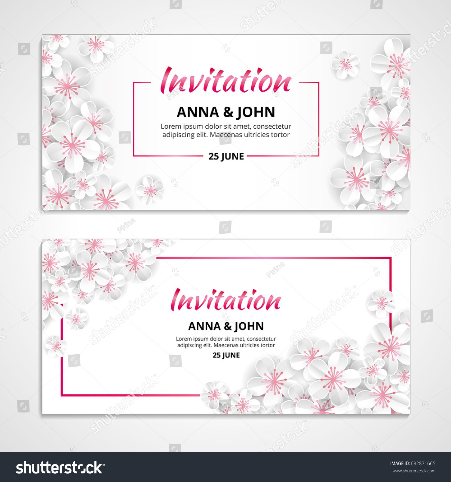 Flower Wedding Paper Invitation For Weddings Background