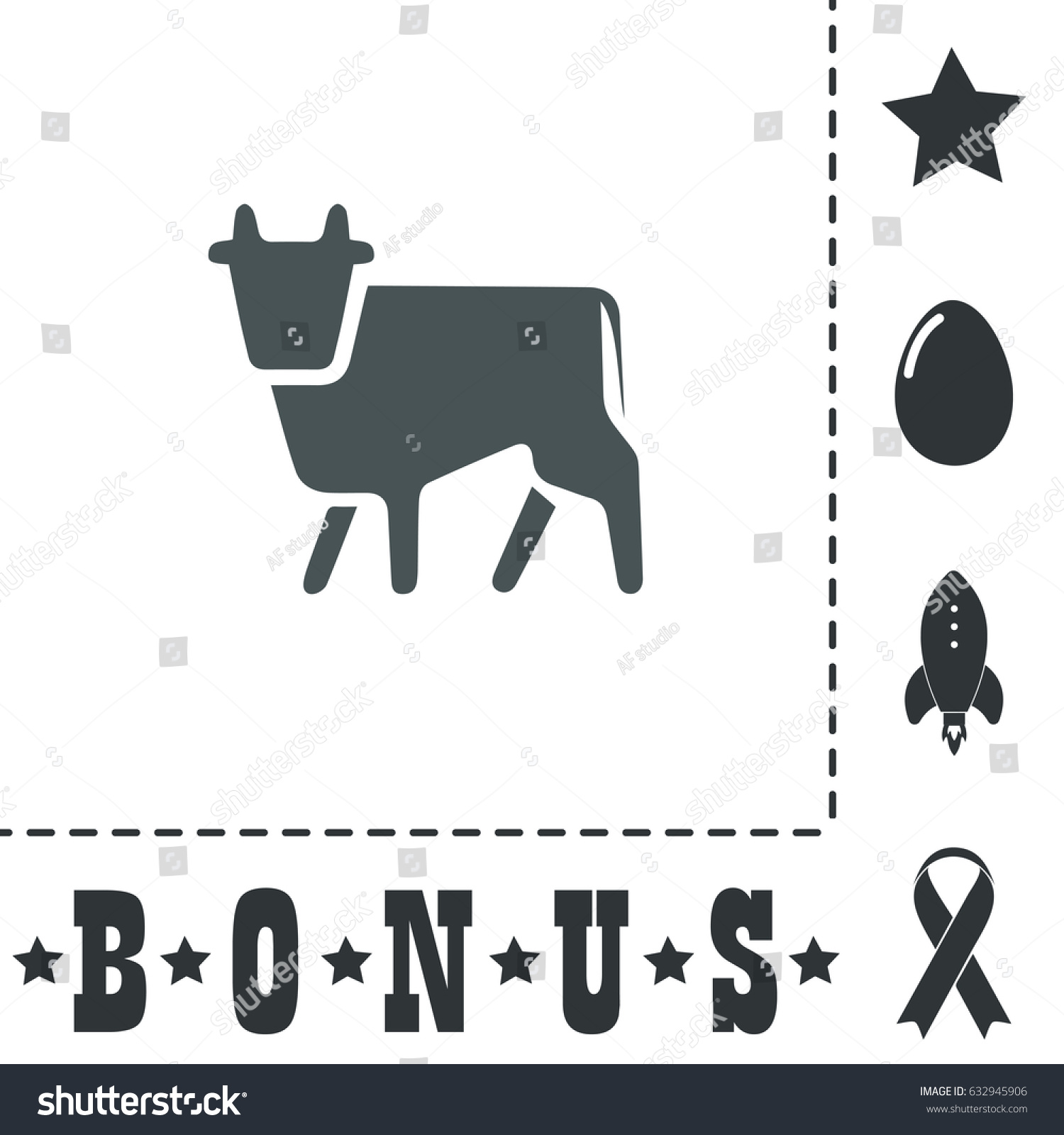 Cow simple flat symbol icon on stock vector 632945906 shutterstock cow simple flat symbol icon on white background vector illustration pictogram and bonus icons buycottarizona