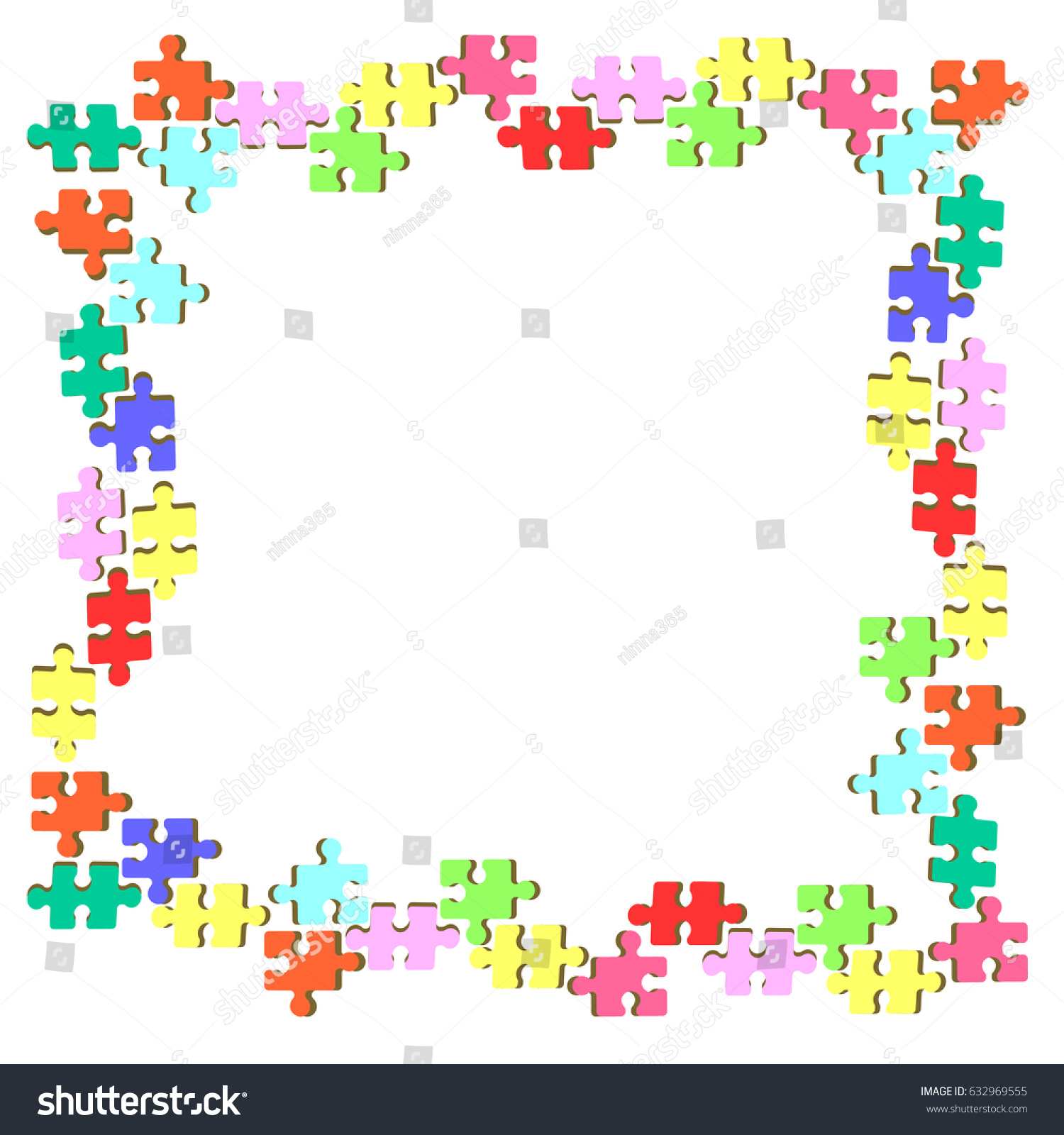 Puzzle Frame Design Stock Photo (Photo, Vector, Illustration ...
