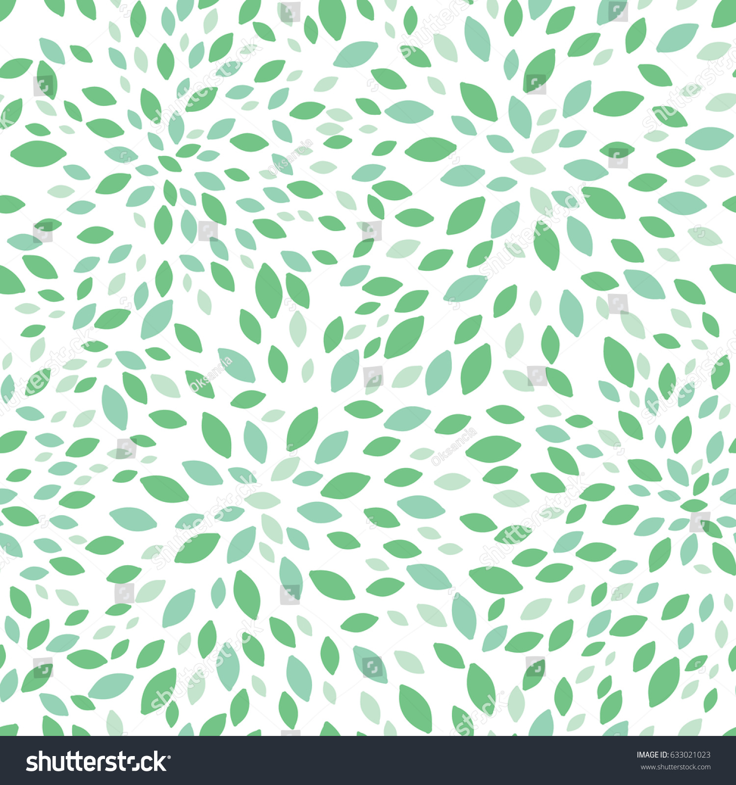 Vector Spring Green Leaves Bursts Seamless Stock Vector ...
