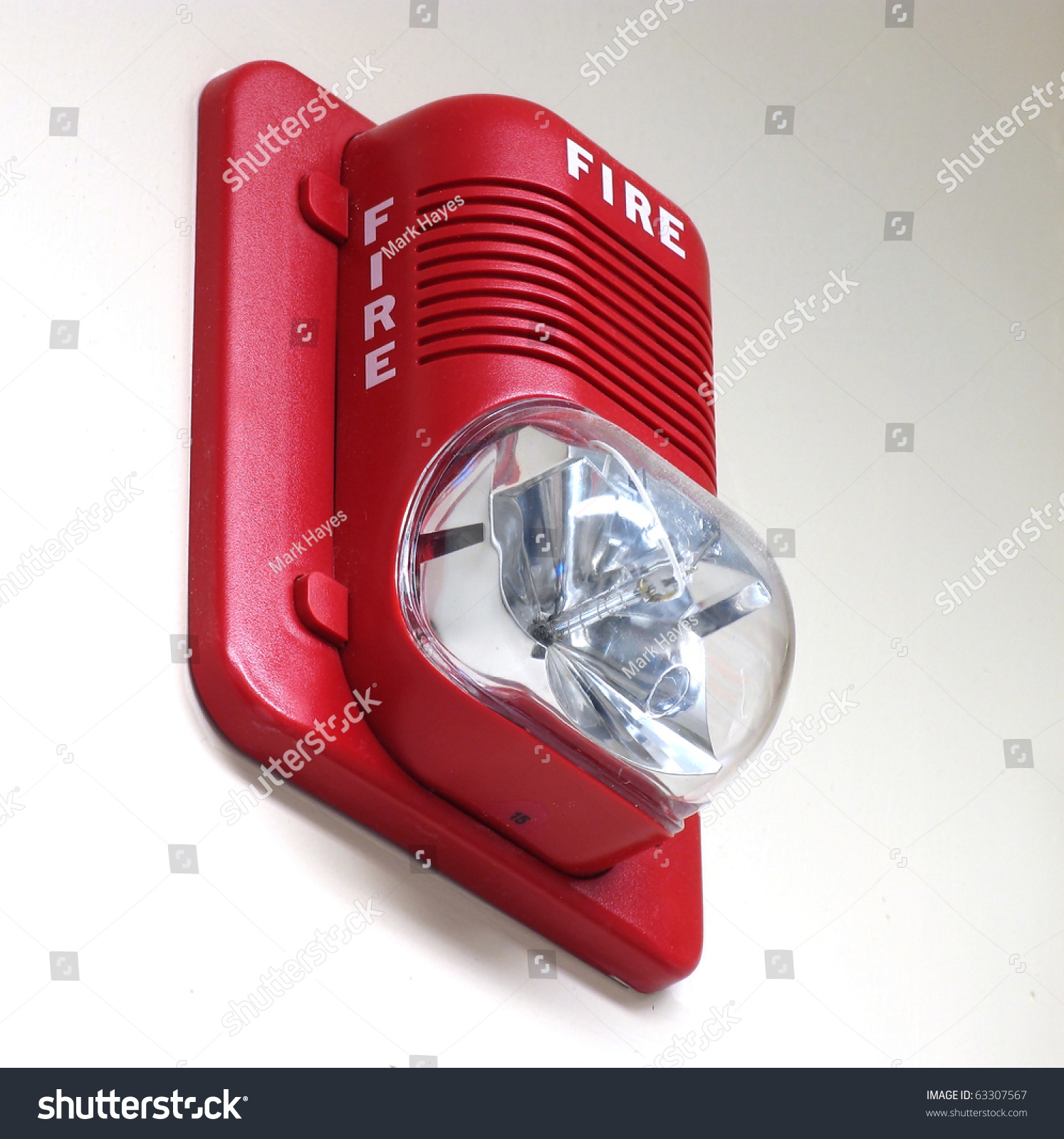 Fire Alarm Built Strobe Light Alert Stock Photo 63307567 ...