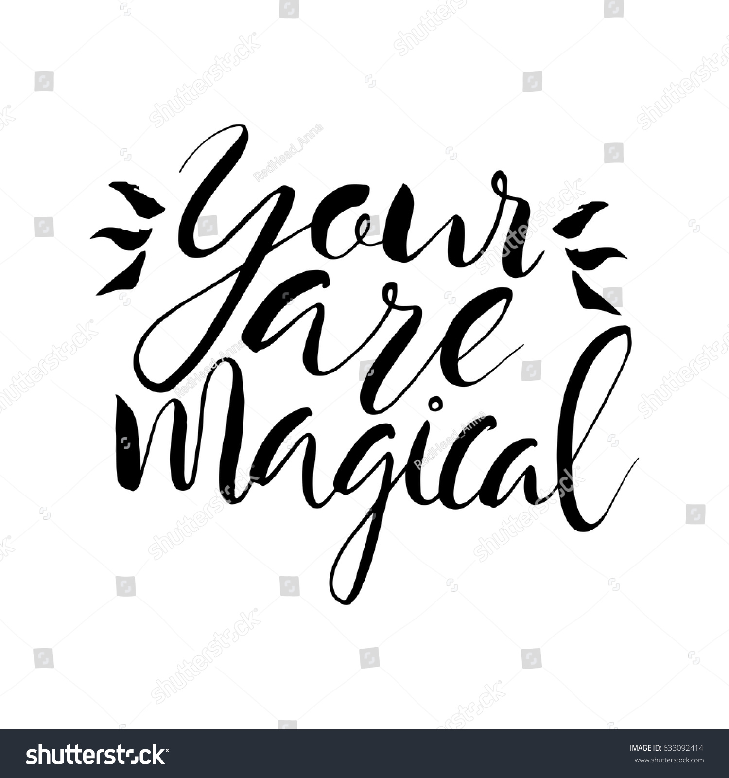 Magical Quotes Your Magical Textinspirational Motivational Quotes Hand Stock
