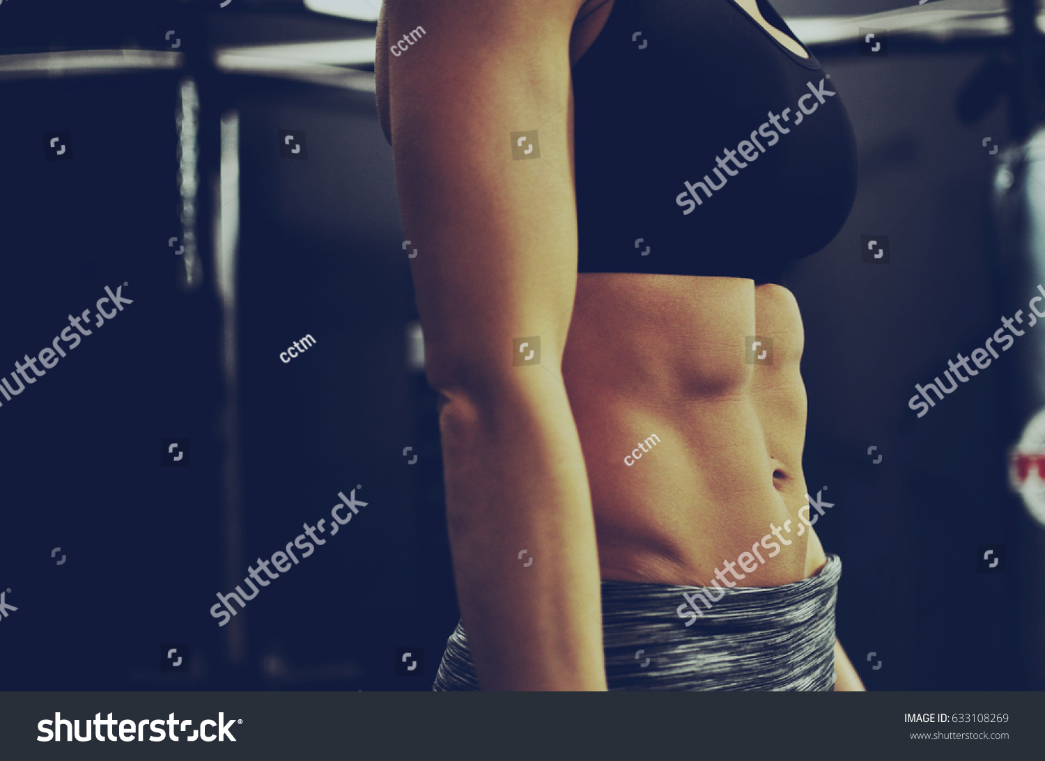 Fitness Trainer Gym Ab Muscles Showing Stock Photo Edit Now