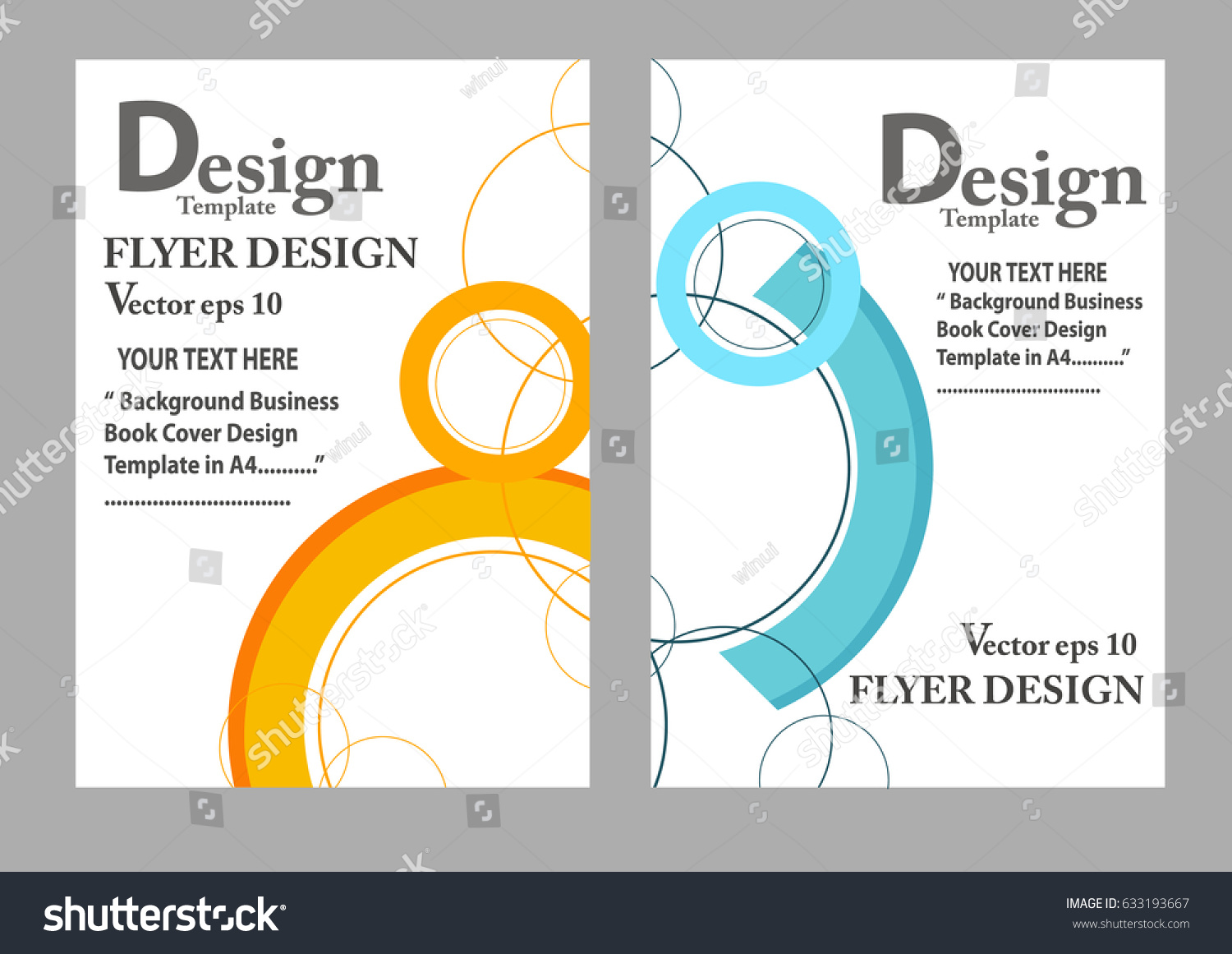 Layout Design Template Cover Book Geographic Stock Vector HD ...
