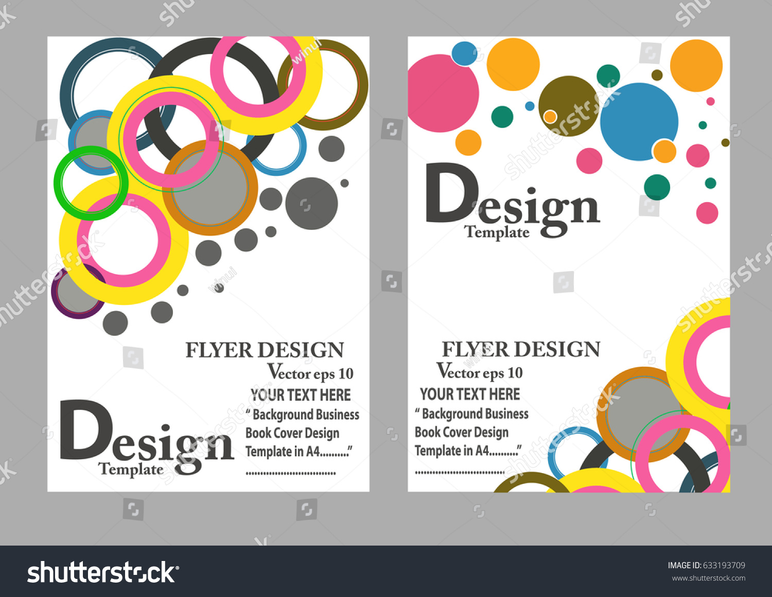 Layout Design Template Cover Book Geographic Stock Vector 633193709 ...
