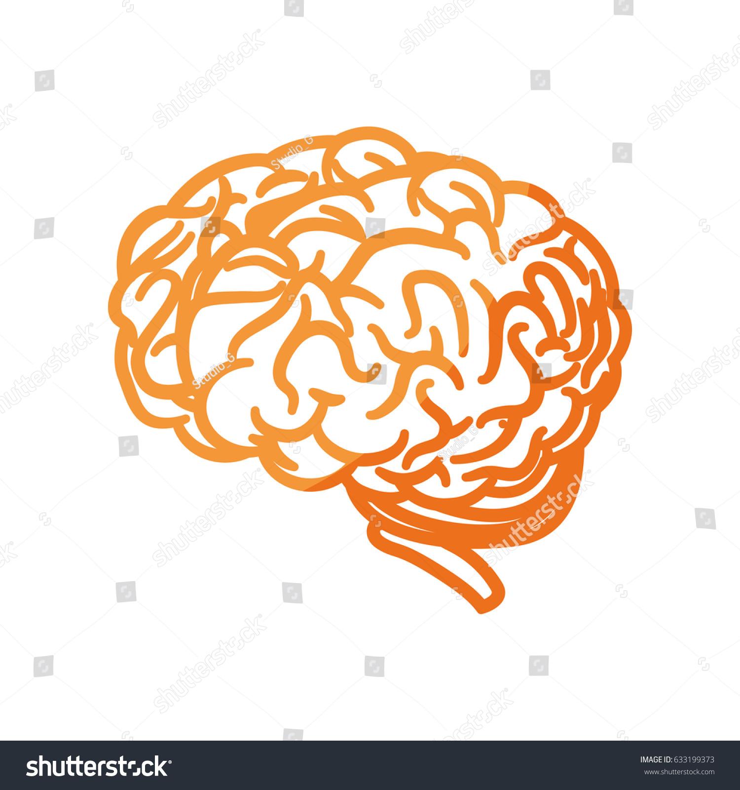 Human brain symbol stock vector 633199373 shutterstock human brain symbol biocorpaavc Images