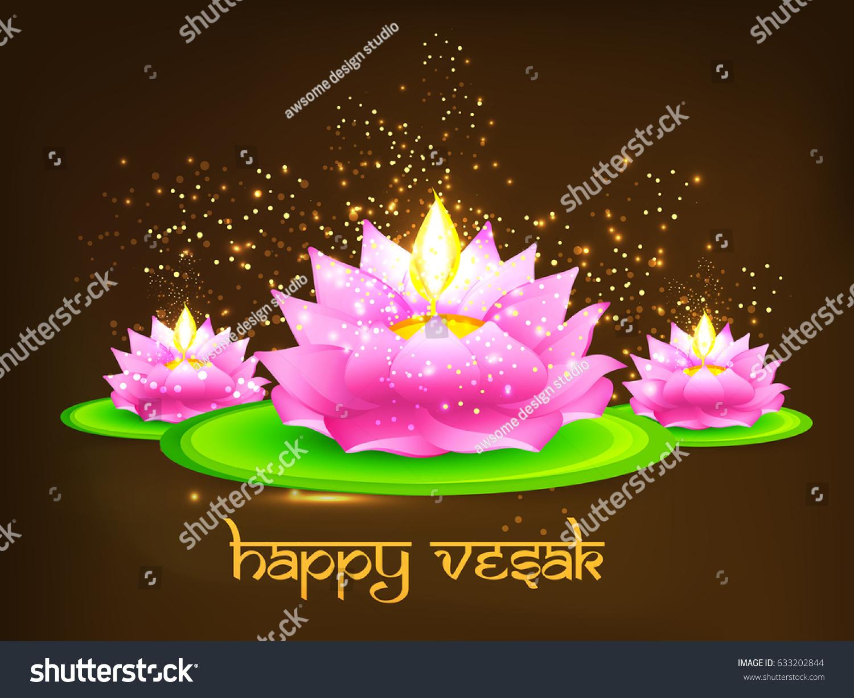 Illustration Of Happy Vesak Day Or Buddha Purnima Background Ez
