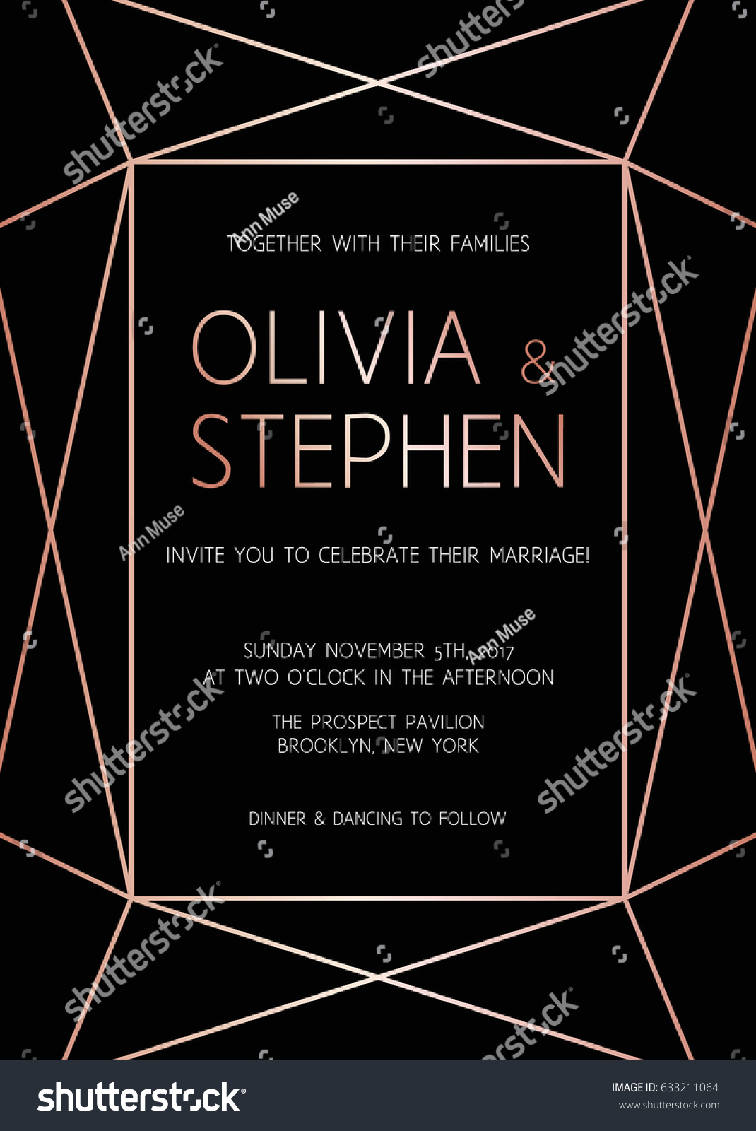 Vector Modern Design Template Wedding Invitation Vector De Stock