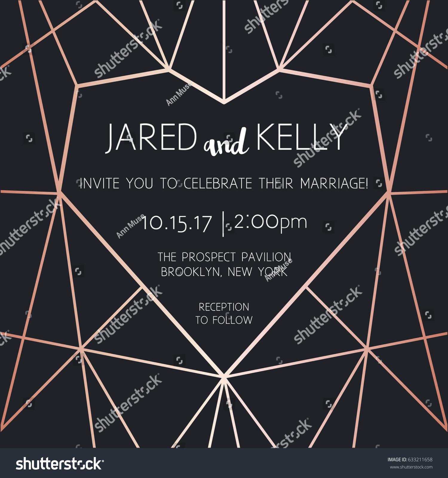 Vector Modern Design Template Wedding Invitation Stock Photo (Photo ...