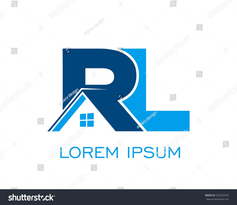 initial r l real estate logo stock vector 633222035 shutterstock rh shutterstock com realtor logo vector mls realtor logo vector mls