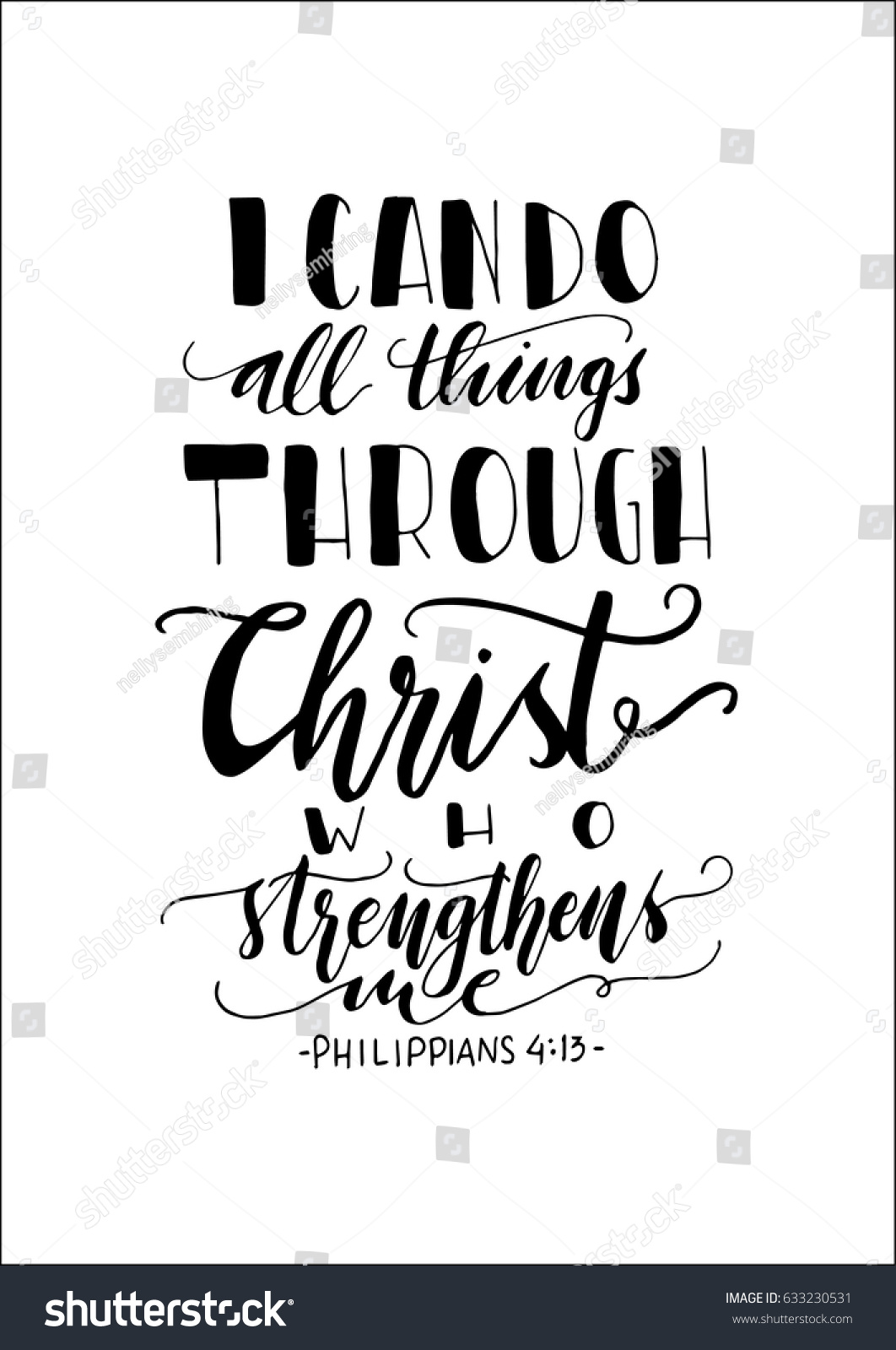 can do all things through christ stock vector royalty free