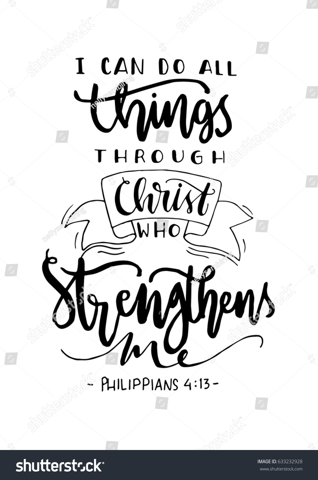 Can Do All Things Through Christ Stock Vector 633232928