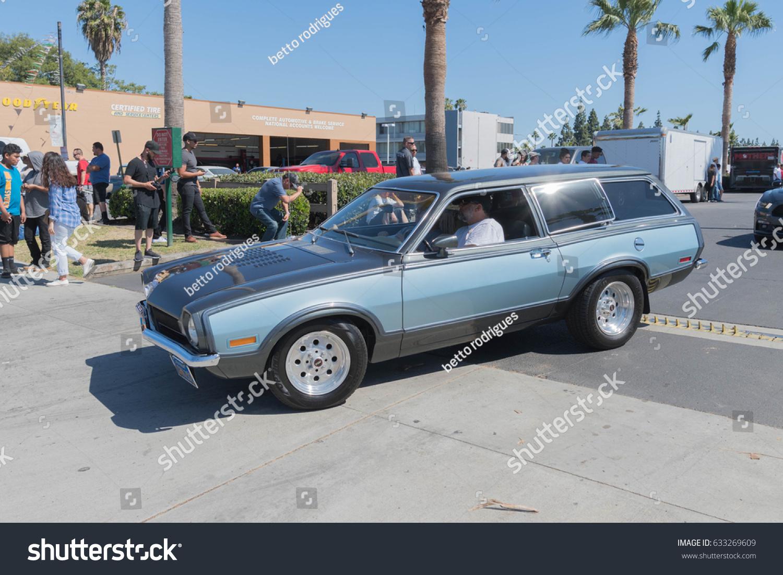 Buena Park Usa April 30 2017 Ford Pinto Wagon On Display During
