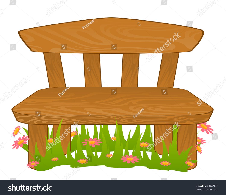Cartoon Bench Vector Stock 63327514 Shutterstock