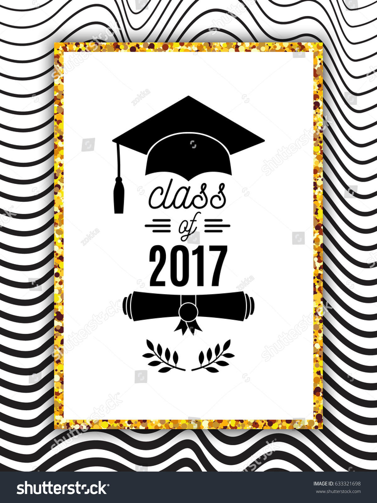 Class 2017 Greeting Card Hat Scroll Stock-Vektorgrafik (Lizenzfrei ...