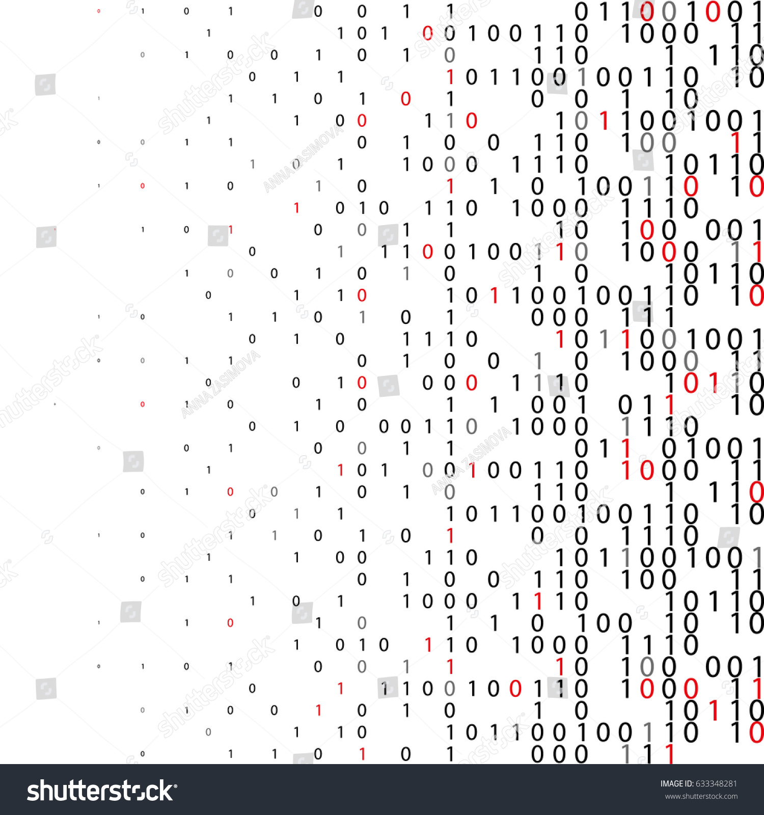 Abstract Binary Code Technology Background Digital Stock Vector