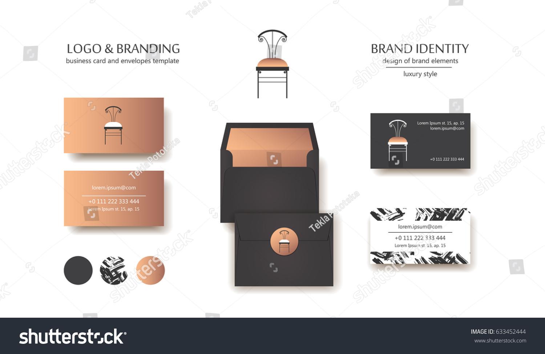 Interior Design Branding Captivating Interior Designer Brand Identity Vintage Chair Stock Vector . 2017