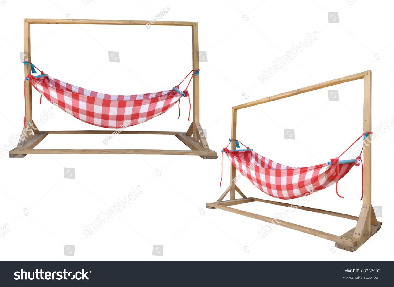 Thai Old Native Style Of Child Crib Stock Photo 63352903