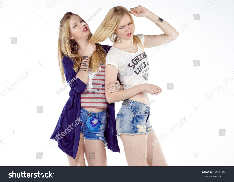 Blonde Girls In Shorts