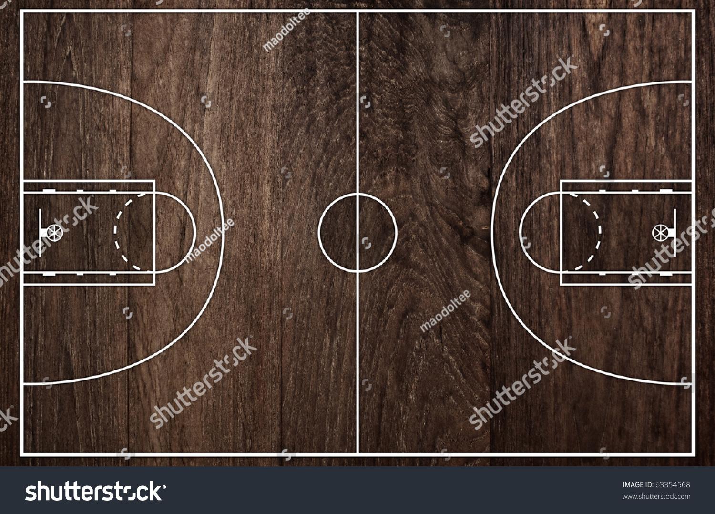 Basketball court floor plan on old stock illustration for Basketball floor plan