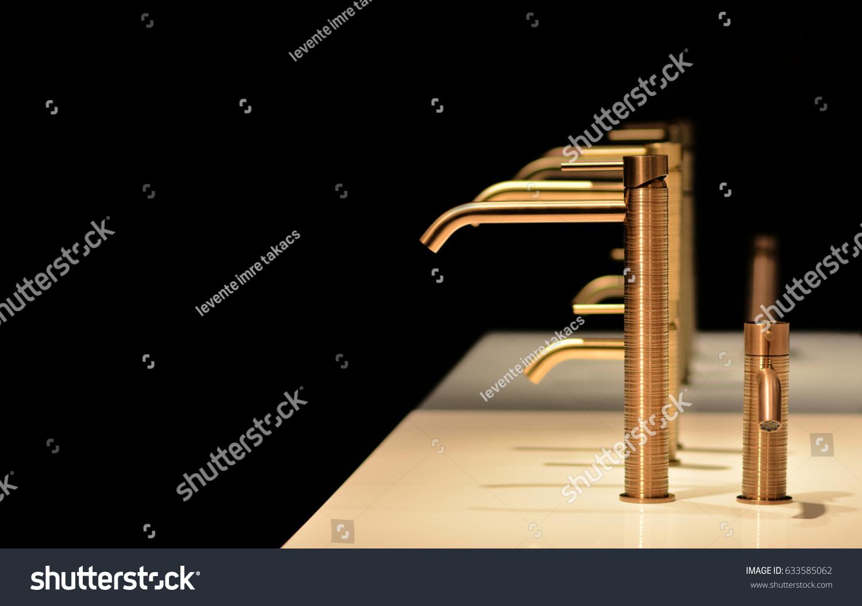 Luxury Bathroom Gold Faucet Design Faucet Stock Photo (Edit Now ...