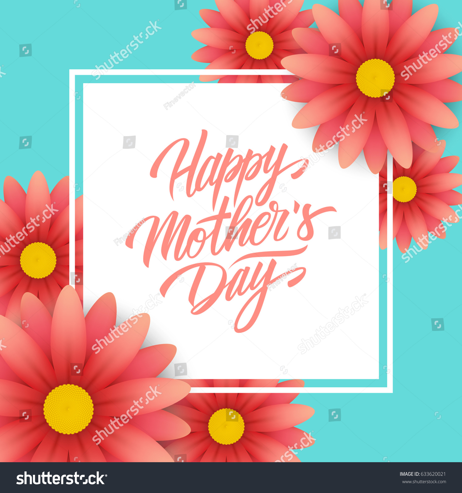 Happy mothers day greeting card calligraphic stock vector 633620021 happy mothers day greeting card with calligraphic lettering text design and blossom flowers creative template m4hsunfo