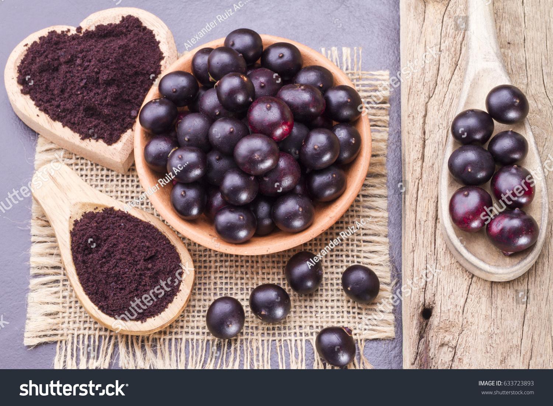 Fruits Acai Powder Originating Amazon On Stock Photo Edit Now