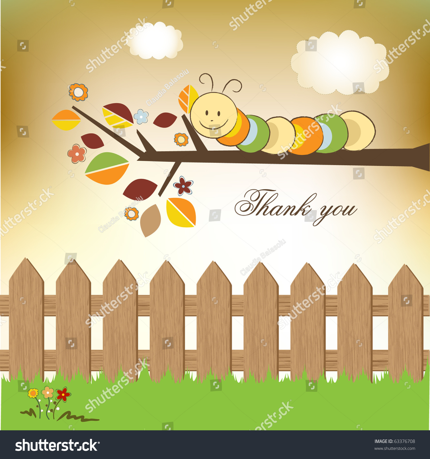 Thank you greeting card stock vector 63376708 shutterstock thank you greeting card kristyandbryce Images