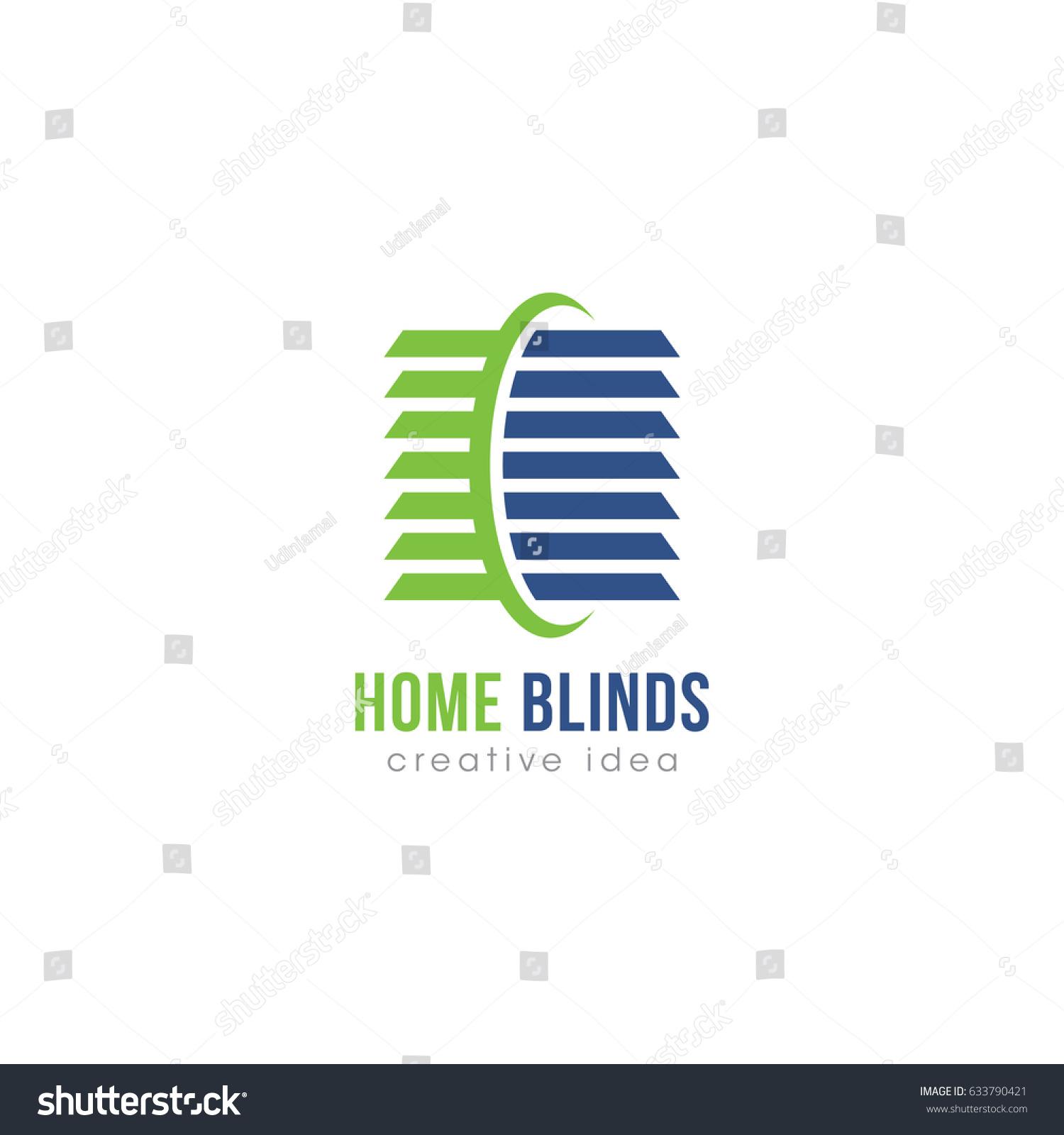 Creative Home Blinds Concept Logo Design Stock Vector Royalty Free