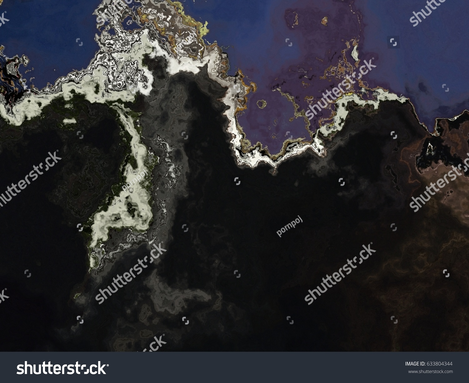 Science Fiction Style Unreal Planet Terrain Stock Photo