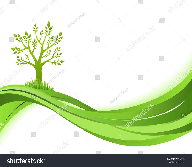 abstract natural green vector - photo #9