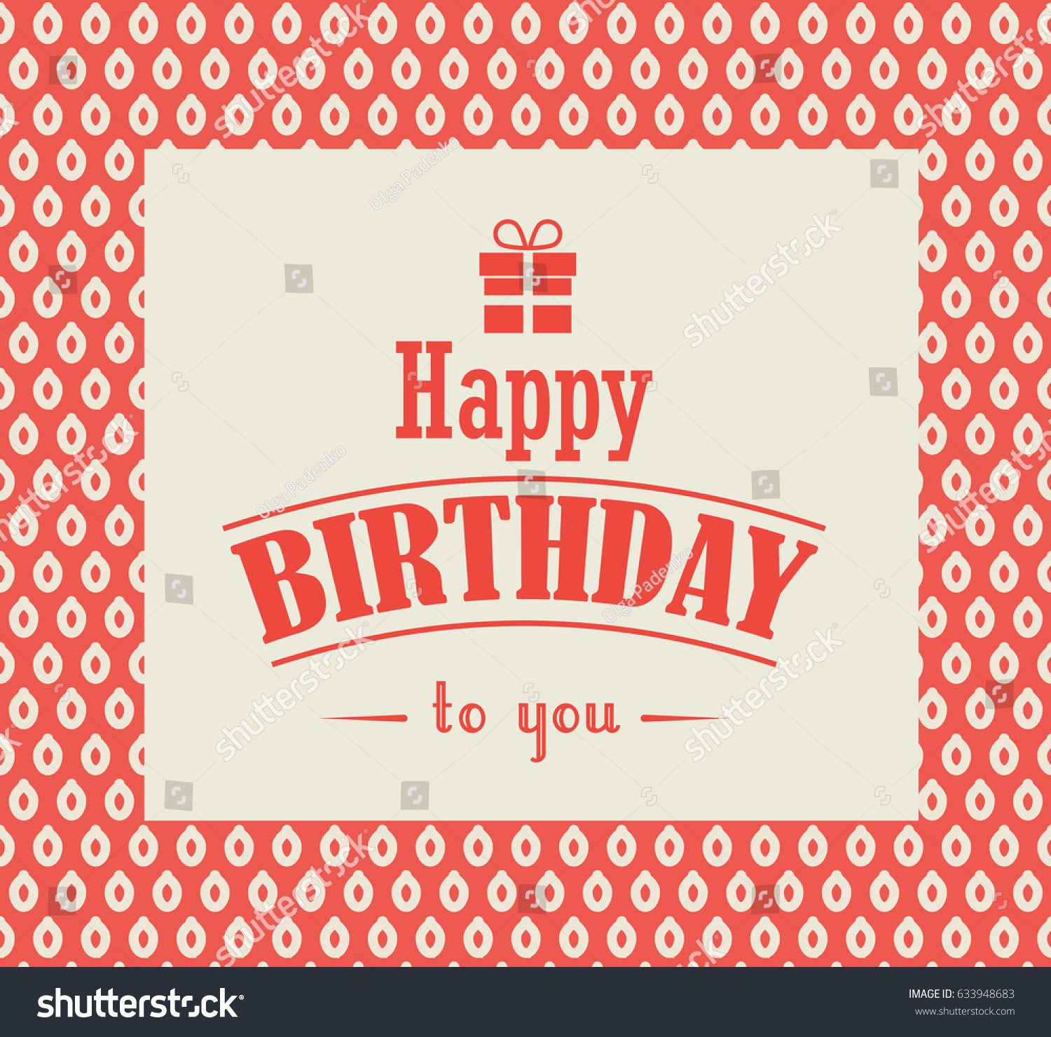 Happy Birthday Greeting Card Vintage Style Stock Vector Hd Royalty