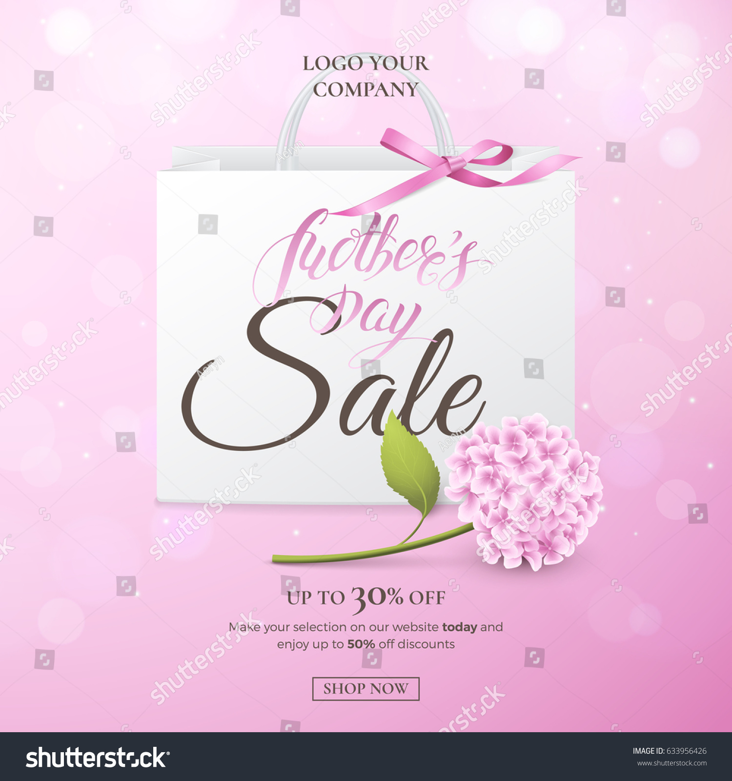 Mothers Day Storewide Sale Template: Vector Sale Poster Discounts Offers Mothers Stock Vector