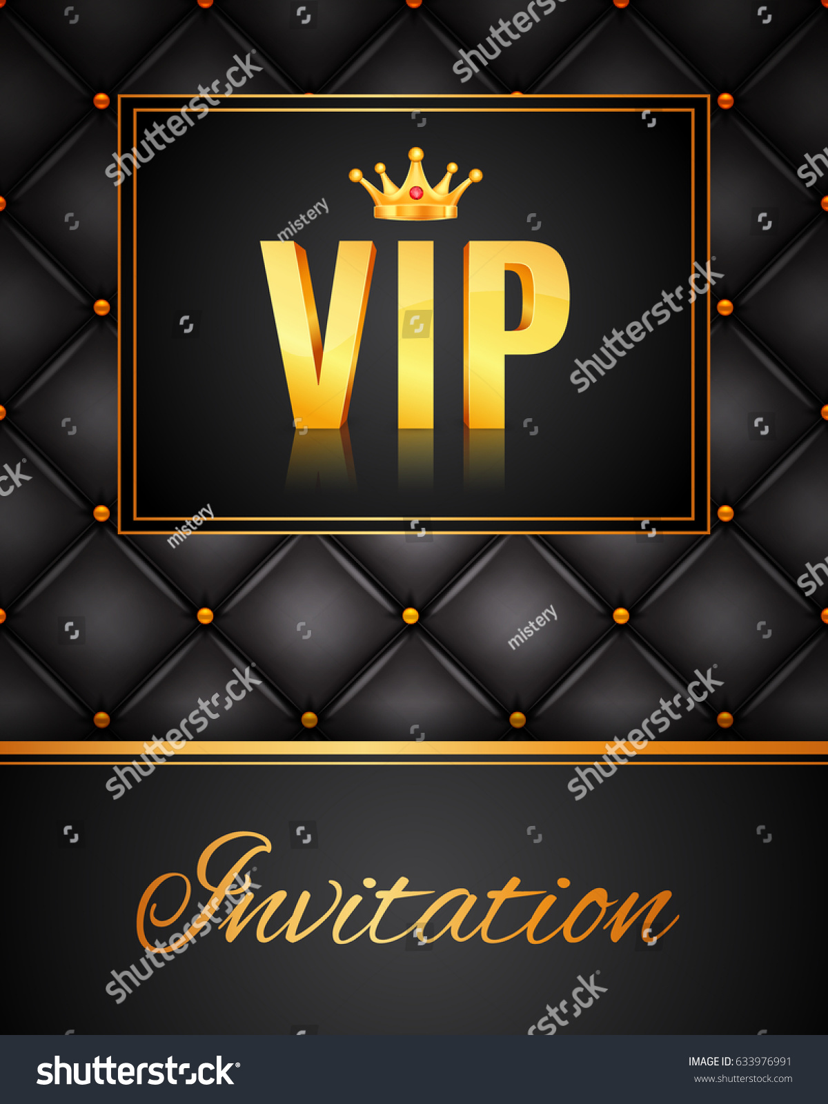 Vip Abstract Quilted Background Vip Party Stock Vector 633976991 ...