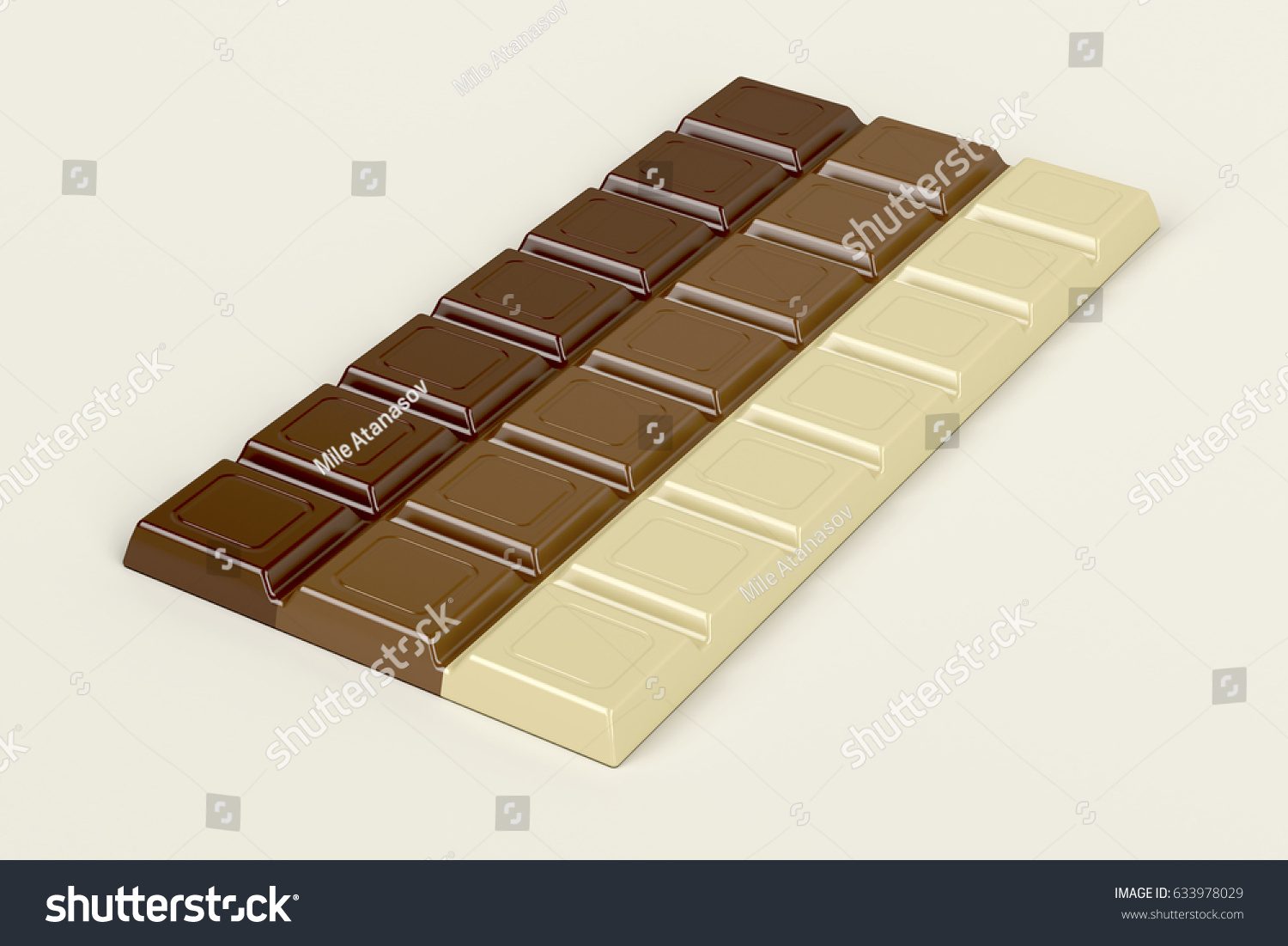 Chocolate Bar Three Different Types Chocolate Stock Illustration ...