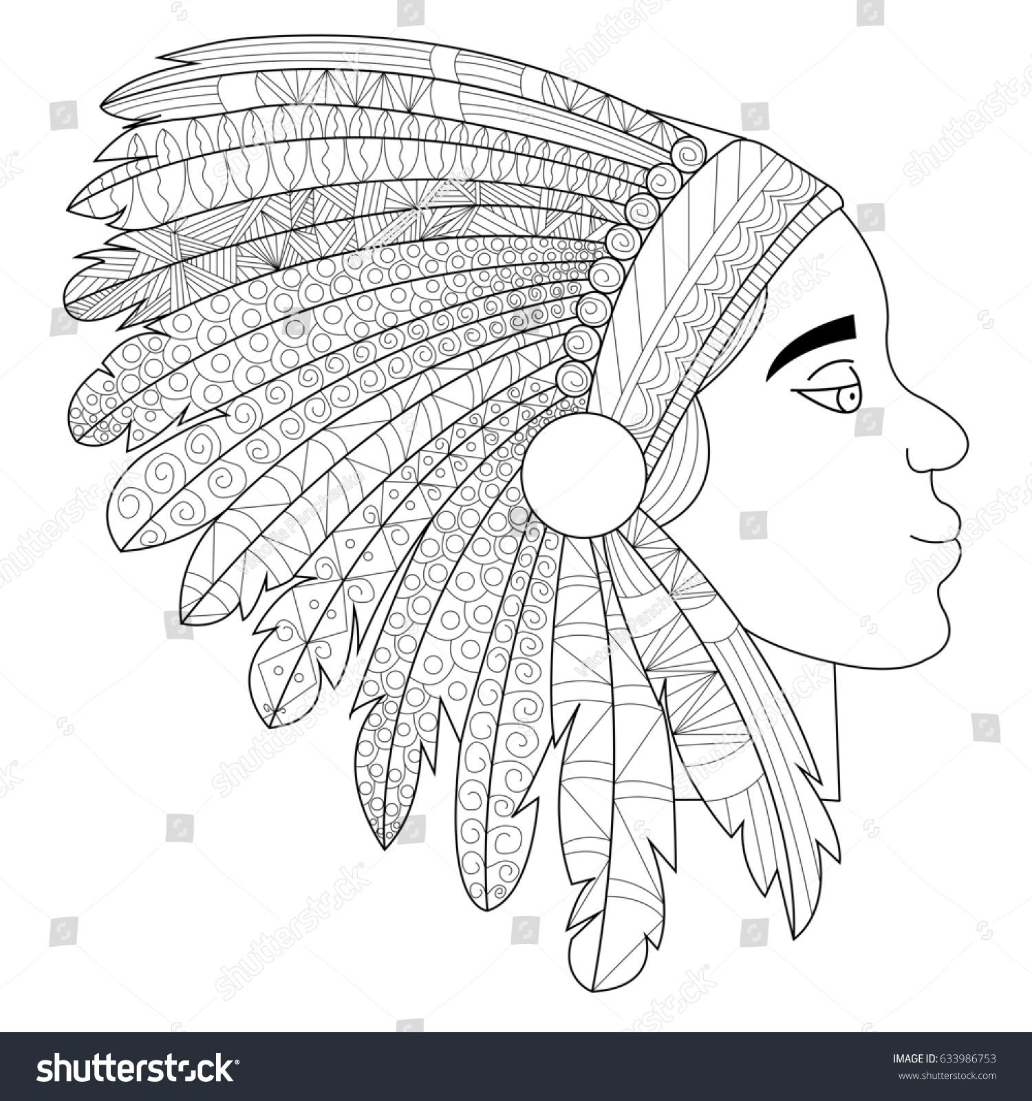 Pretty Indian Headdress Template Images >> Native American Headband ...