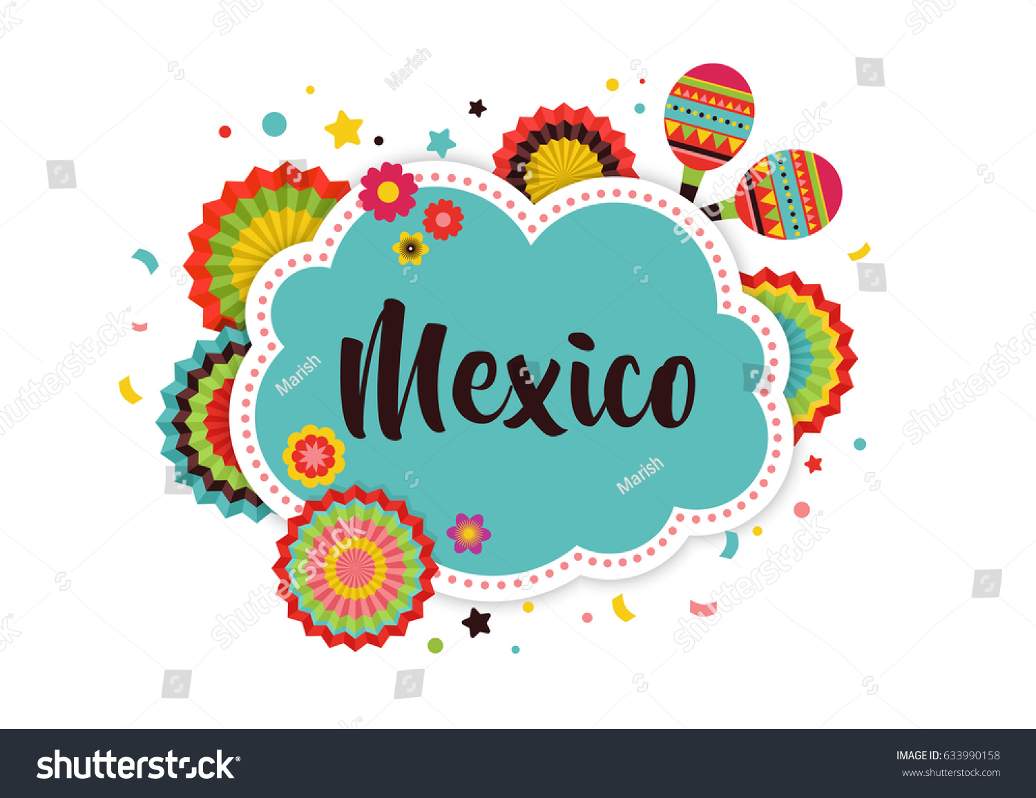 mexican fiesta background banner poster design のベクター画像素材