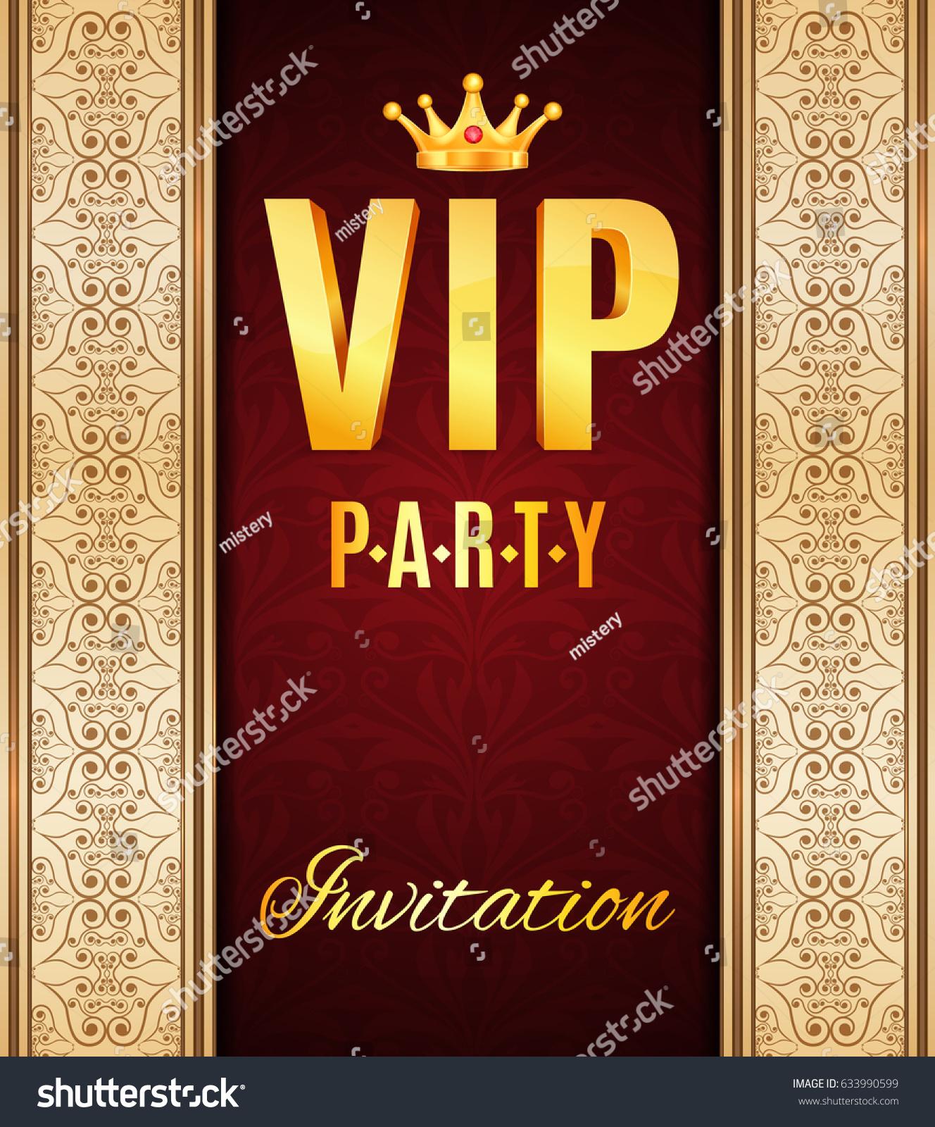 VIP Elegant Card Vip Party Invitation Stock Vector 633990599 ...