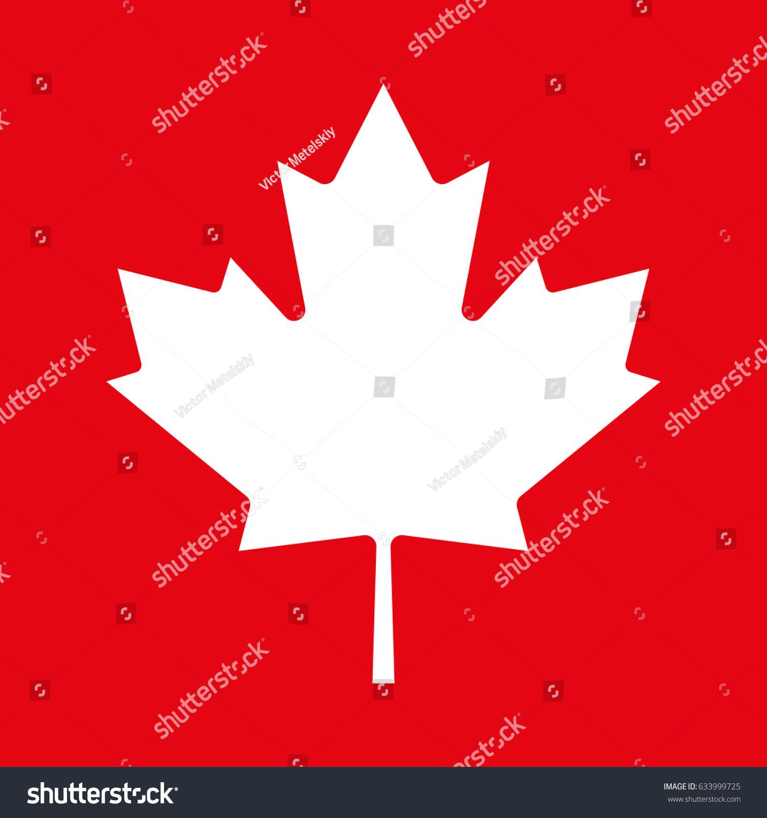 Maple Leaf Icon Canadian Symbol Stock Illustration Royalty Free