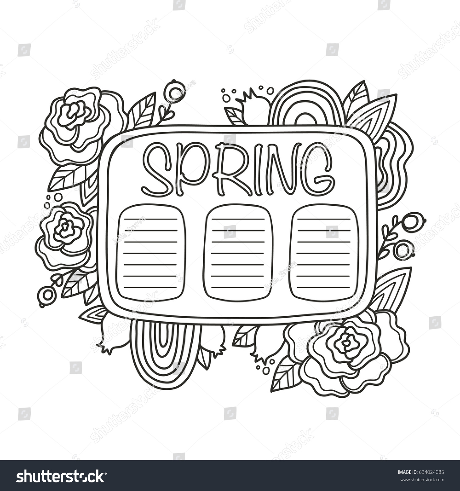 printable do list page fun spring stock vector (royalty free